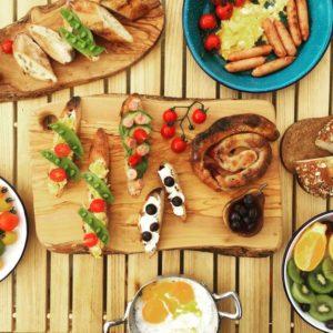 オシャレアウトドア料理に挑戦。写真はサンプルです