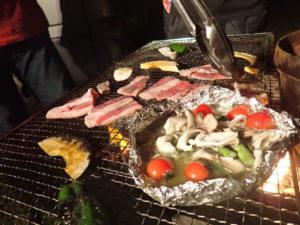 焼肉、アヒージョもコンロで焼きます